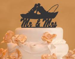fishing wedding cake toppers fishing cake topper etsy