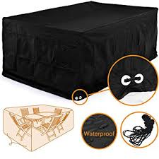 Covers For Outdoor Patio Furniture - amazon com fellie cover 126 inch rectangular patio table and