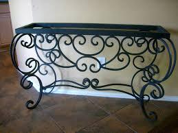 iron console table old world tuscan hacienda rustic spanish