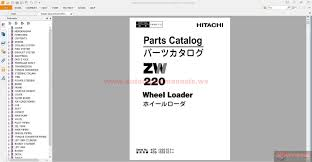 hitachi zaxis zw220 wheel loader parts catalog auto repair