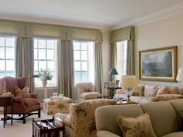 window treatment living room light brown gold pillows gray color