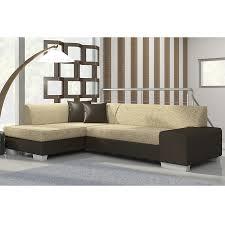 canapé angle convertible marron meuble de salon canapé canapé d angle bicolore sofamobili