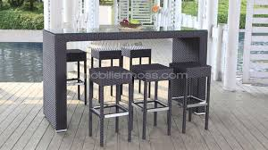 cuisine table haute table de bar haute jardin idées décoration intérieure farik us