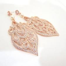 gold bridal earrings chandelier gold bridal earrings deco wedding earrings gold