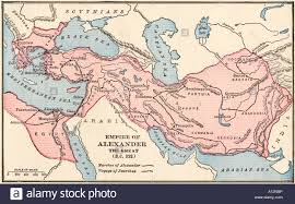 Map Of The World Bc by Map Of The Empire Of Alexander The Great In 323 Bc Stock Photo