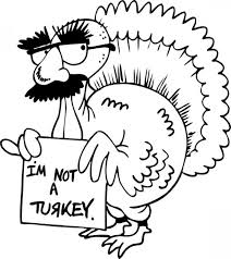 easy turkey coloring page for thanksgiving easy coloring pages