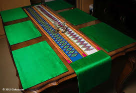 emerald green table runners buy emerald green handmade silk ethnic table runner 1 and placemat