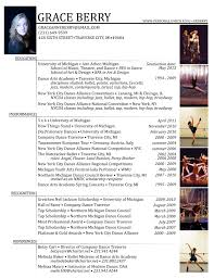 Dancer Resume Layout Dance Resume Template Free Free Resume Example And Writing Download