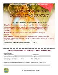 holiday home decorating contest u2014 hawthorne california