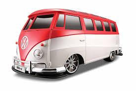 volkswagen bus front amazon com maisto r c 1 10 scale volkswagen van