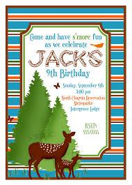items similar to camping invitations camping birthday party