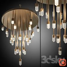 Corona Chandelier 3d Models Ceiling Light Chandelier Quartz Falls Chandelier