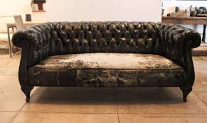 1970s Leather Sofa Antique Black Leather Chesterfield Sofa Centerfieldbar Com