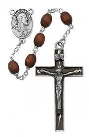 mens rosary rosary mens brown wood
