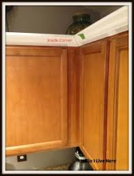 kitchen cabinet makeover u2013 install crown molding hello i live here