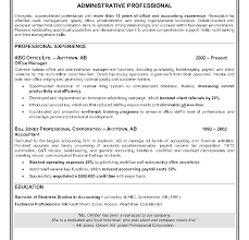 administrative resume template sle resume for chief administrative officer curriculum vitae