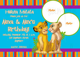 free lion king birthday invitation template free custom