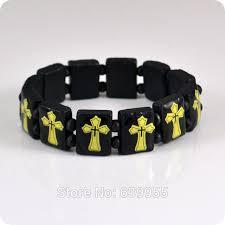 catholic bracelet 3x cross wood bracelet wristband catholic christian fashion