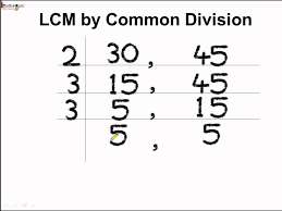 Common Denominator Worksheets Math How To Find Lcm By Common Division Method English Youtube