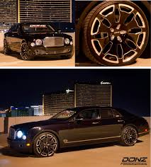 bentley blacked out new donz sicily mono forged wheels on 2013 bentley mulsanne