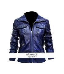 blue motorcycle jacket women s blue bomber leather motorcycle jacket