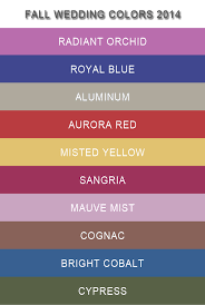 top 10 pantone fall wedding colors 2014 trends wedding colour