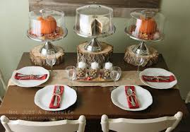 idyllic thanksgiving dinner place settings with cookies