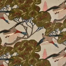 Upholstery Fabric With Birds Animal Fabrics Decoratorsbest