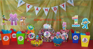 pocoyo party supplies pocoyo birthday party candy table ideas go party
