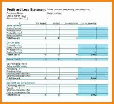 profit and loss form for self employed profit and loss template