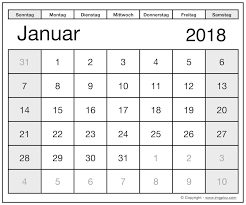 Kalender 2018 Germany Printable January 2018 Calendar Germany With Holidays And Festival