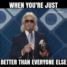 Ric Flair Memes - holy cow skullfucked 3vs6 hi 5 uo atlantic