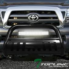 tacoma grill light bar amazon com topline autopart black hd bull bar bumper grill guard