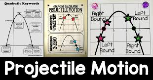 scaffolded math and science projectile motion posters