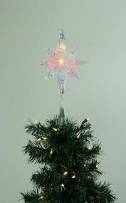 lighted tree topper 11 lighted clear faceted bethlehem christmas tree topper