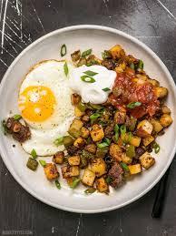 egg recipes for dinner chorizo breakfast hash budget bytes