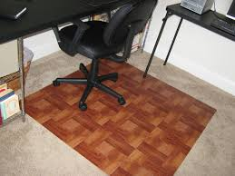it frugal diy wooden office chair mat
