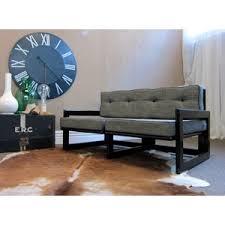 vintage retro industrial look sofa graphic square arms ny lo