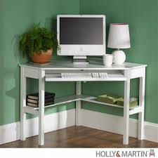 Office Desk With Keyboard Tray Compact Modern White Corner Computer Desk With Keyboard Tray
