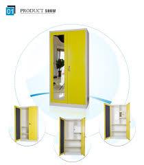 Yellow Metal Storage Cabinet Mingxiu 2 Door Yellow Cheap Metal Storage Cabinet Mirrored Metal