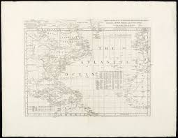 Spanish Map Of North America by Chart Of The Atlantic Ocean With The British French U0026 Spanish
