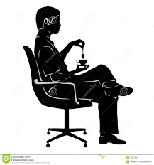 Office Chair Clipart Man On Coffee Break In Office Chair Royalty Free Stock Image