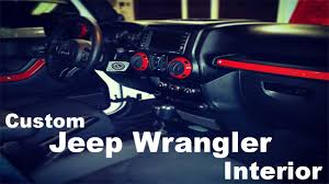 red jeep liberty 2012 diy custom jeep wrangler interior part 1 youtube