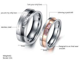 love rings design images Only love quot couple ring titanium with gemstone 2018 design mypebing jpg