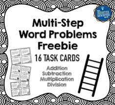 free multiplication word problems this is a free set of 20 division task cards including multi