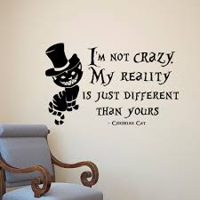 alice in wonderland wall decals fun quotes cheshire cat and