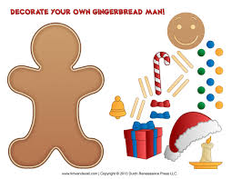 free printable gingerbread man clipart 68