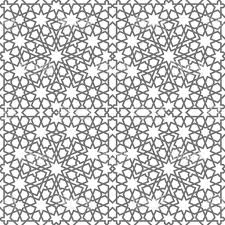 islamic seamless vector pattern geometric ornaments based on