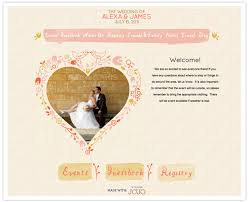 wedding web great wedding website for the couples sted style and