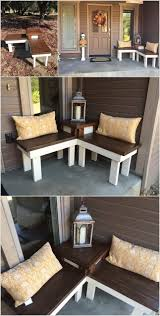 Backyard Bench Ideas by 10 Awesome Diy Front Porch Bench Ideas